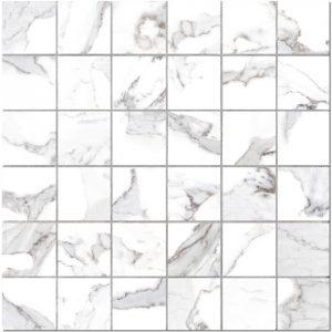 BMX-G204020 Vallelunga Calacatta 11.8 x 11.8 inch glazed porcelain mosaics