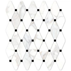 BMX-G204030 Vallelunga Calacatta 11.8 x 11.8 inch glazed porcelain mosaics