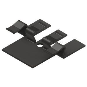 NVW-2594 Stamped 1050 E-Coat Black Hidden Fastener Decking Clip Resilient 4/4 18g