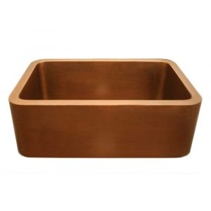 WH2519COFC-OCS - Copperhaus Rectangular Undermount Sink with Smooth Front Apron