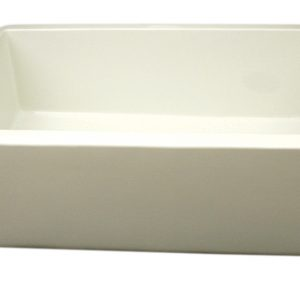 WH3018-BISCUIT - Farmhaus Fireclay Duet Series Reversible Sink with Smooth Front Apron