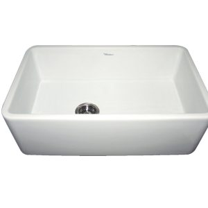 WH3018-WHITE - Farmhaus Fireclay Duet Series Reversible Sink with Smooth Front Apron