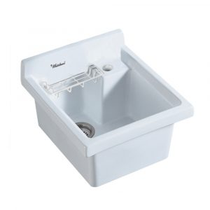 WH474-60 - Vitreous China Single Bowl, Drop-in Sink with Wire Basket and 3 ? Inch Off Center Drain