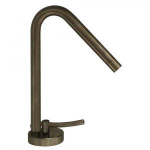WH81211-BN - Metrohaus Single Hole Faucet with 45-Degree Swivel Spout, Lever Handle and Pop-up Waste