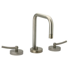 WH81214L-BN - Metrohaus Lavatory Widespread Faucet with Swivel Spout, Pop-up Waste and Lever Handles