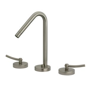 WH81214-BN - Metrohaus Lavatory Widespread Faucet with 45-Degree Swivel Spout, Pop-up Waste and  Lever Handles