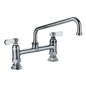 WHFS9813-12-C - Heavy Duty Utility Bridge Faucet with an Extended Swivel Spout and Lever Handles
