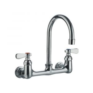 WHFS9814-P5-C - Heavy Duty Wall Mount Utility Faucet with a Gooseneck Swivel Spout and Lever Handles