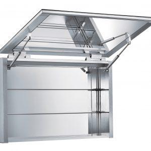 WHHIM-2 - Medicinehaus Vertical Opening, Single Mirrored Door, Anodized Aluminum Surface Mount Medicine Cabinet .