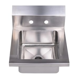 "WHHS14 - Noah's Collection Small Utility Single Bowl Drop-in/Wall Mount Hand Sink with 6"" backsplash"