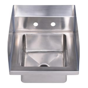 "WHHS14S - Noah's Collection Small Utility Single Bowl Drop-in/Wall Mount Hand Sink with 6"" backsplash"