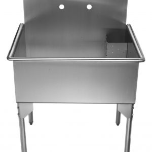 WHLS3024-NP - Pearlhaus Brushed Stainless Steel  Single Bowl Commerical Freestanding Utility Sink