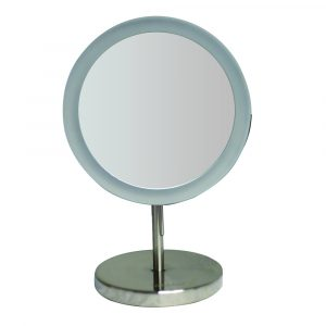 WHMR106-BN - Round Freestanding Led 5X Magnified Mirror