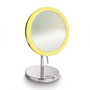 WHMR106-C - Round Freestanding Led 5X Magnified Mirror