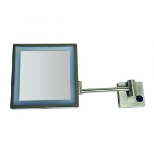 WHMR25-BN - Square Wall Mount Led 5X Magnified Mirror