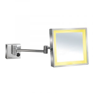 WHMR25-C - Square Wall Mount Led 5X Magnified Mirror