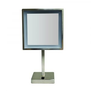 WHMR295-BN - Square Freestanding Led 5X Magnified Mirror