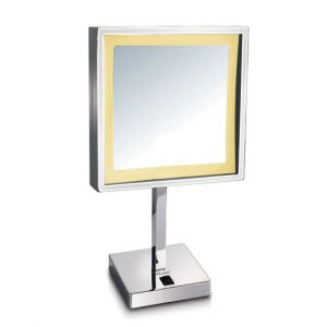 WHMR295-C - Square Freestanding Led 5X Magnified Mirror
