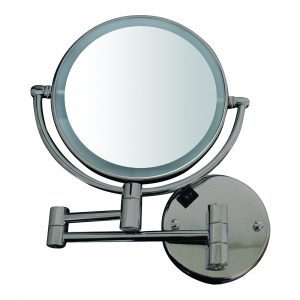 WHMR912-BN - Round Wall Mount Dual Led 7X Magnified Mirror