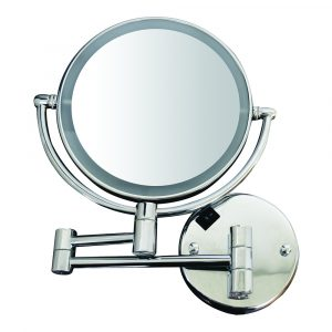 WHMR912-C - Round Wall Mount Dual Led 7X Magnified Mirror