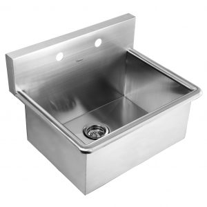 WHNC2520 - Noah's Collection Brushed Stainless Steel Commercial Drop-in or Wall Mount Utility Sink