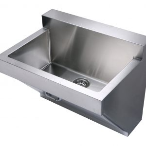 WHNC3022W - Noah's Collection Brushed Stainless Steel Commercial Single Bowl Wall Mount Utility Sink