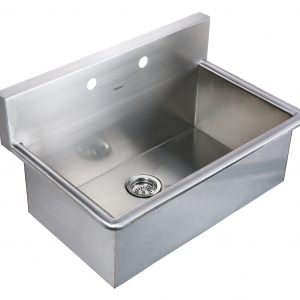 WHNC3120 - Noah's Collection Brushed Stainless Steel Commercial Drop-in or Wall Mount Utility Sink