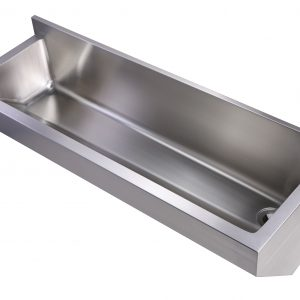WHNC4513L - Noah's Collection Brushed Stainless Steel Commercial Single Bowl Wall Mount Utility Sink