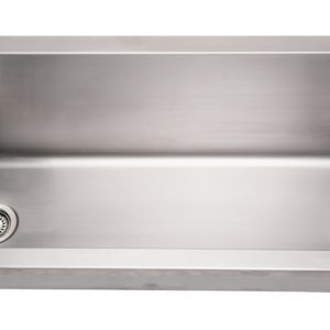 WHNCMB4413 - Noah's Collection Brushed Stainless Steel Commercial Single Bowl Wall Mount Utility Sink