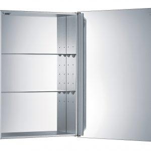 WHSKA-68 - Medicinehaus Single Mirrored Door Anodized Aluminum Medicine Cabinet