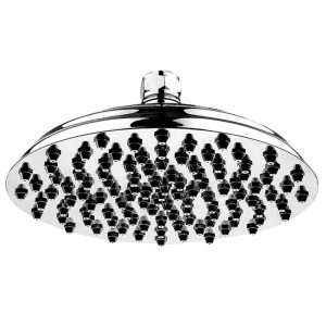 WHSM01-12-C - Showerhaus Large Sunflower Rainfall Showerhead with 108 Spray Nozzles - Solid Brass Construction with Adjustable Ball Joint