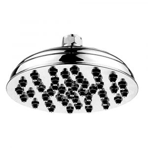 WHSM01-8-C - Showerhaus Sunflower Rainfall Showerhead with 45 nozzles - Solid Brass Construction with Adjustable Ball Joint