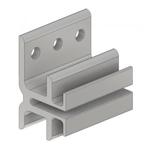 NVW-2538 Rainscreen Siding Clip Resilient Extruded Aluminum